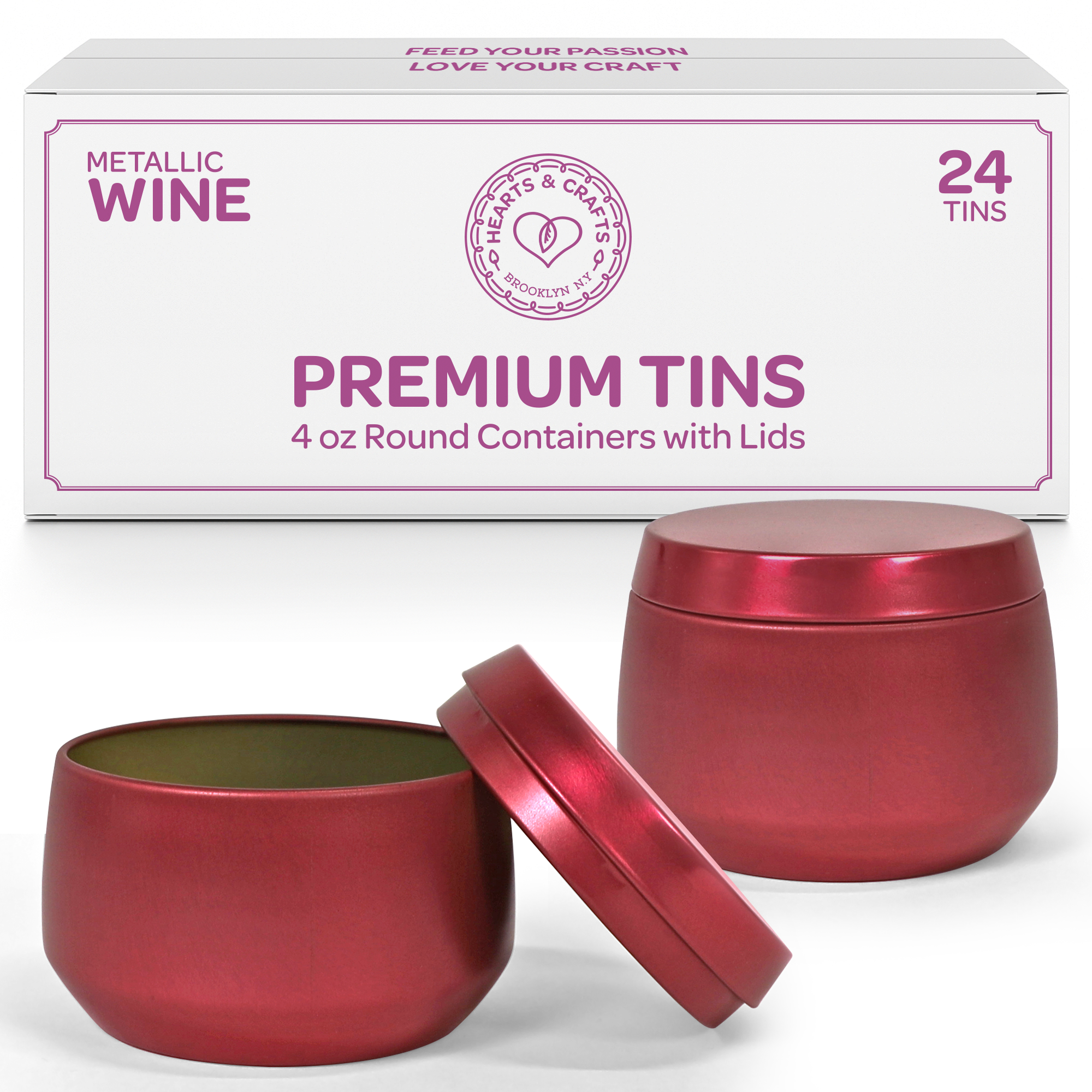 4oz Wine Candle Tins –  24 Count